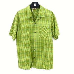 Merrell Men's Plaid Green Short Sleeve Button Down